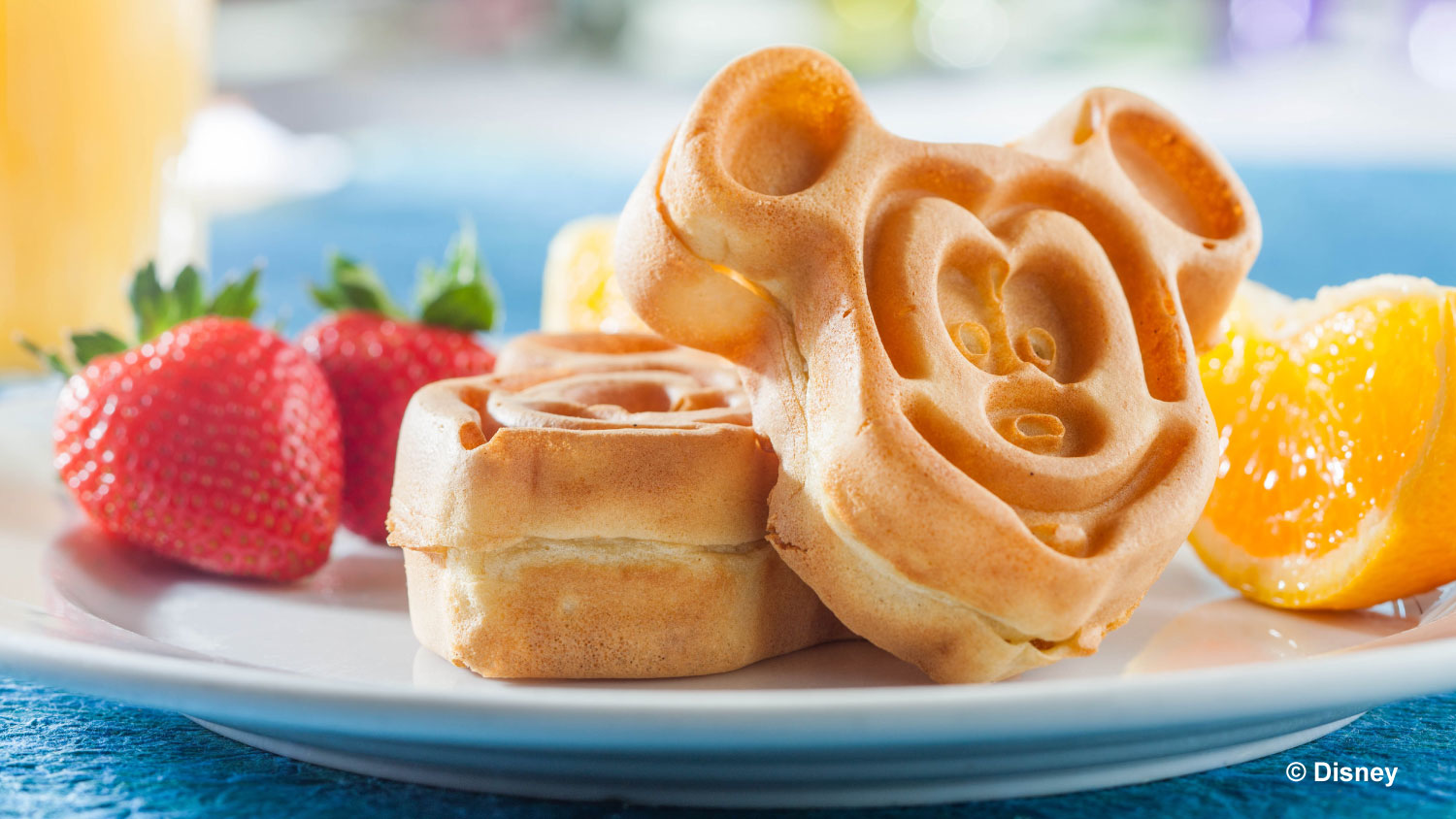 Mickey shaped waffles