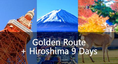 Golden Route plus Hiroshima 9 Days