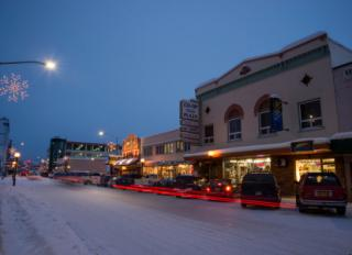 fairbanks downtown winter